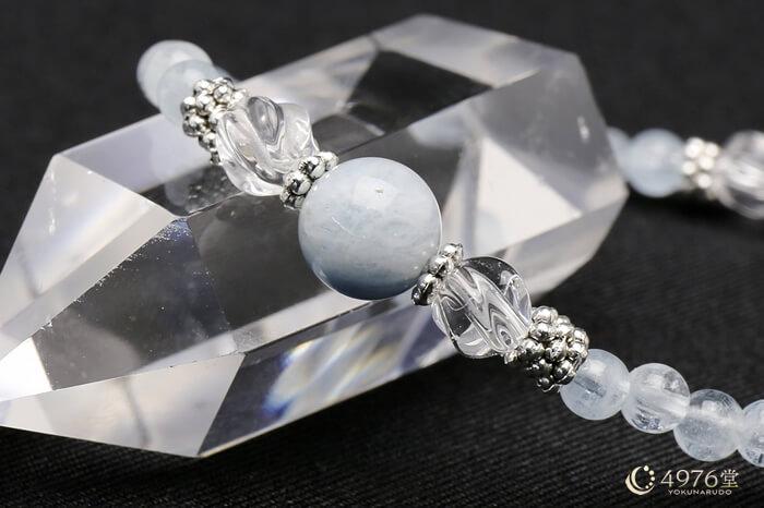 アクアマリン・トルネード水晶 ブレスレット