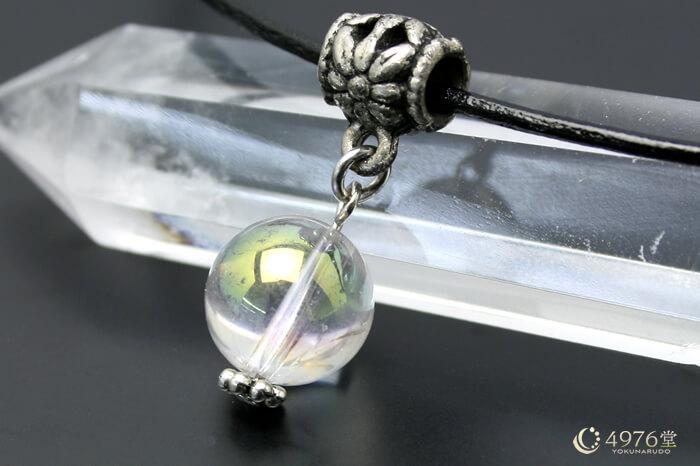 オーロラ水晶 ネックレス パイプチャーム