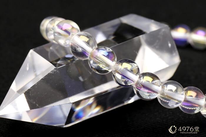 オーロラ水晶 ブレスレット 6mm