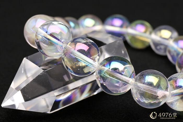 オーロラ水晶 ブレスレット 12mm