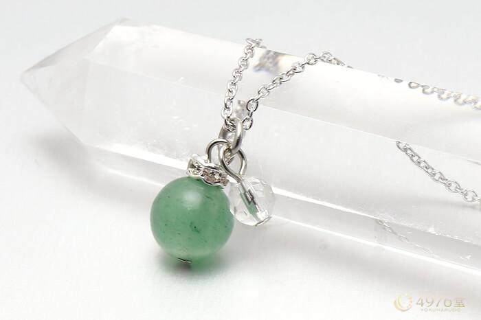 アベンチュリン・水晶カット ネックレス