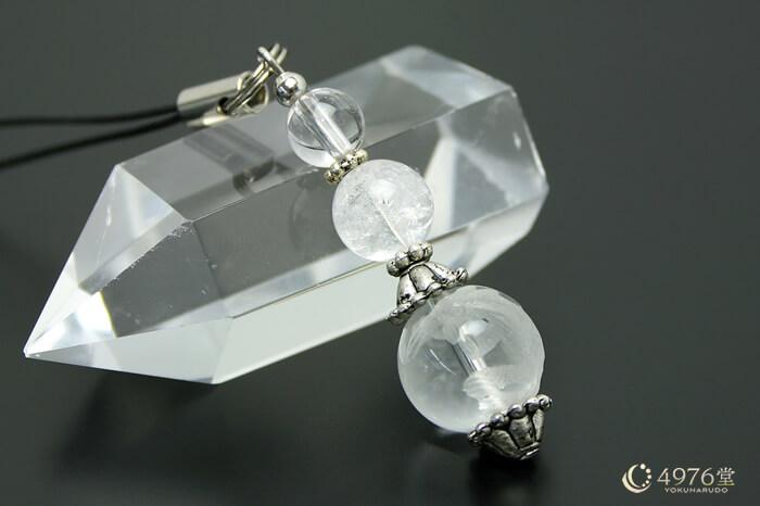 白虎水晶・クラック水晶 ストラップ