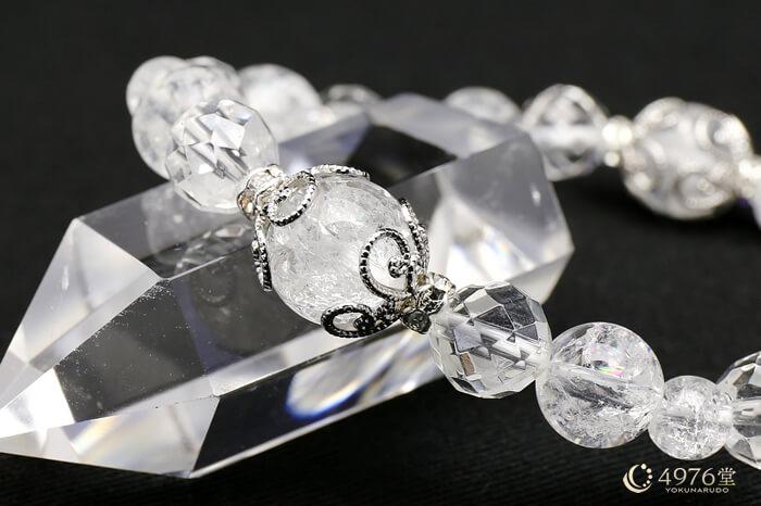 クラック水晶 ブレスレット キラメタル2ポイント