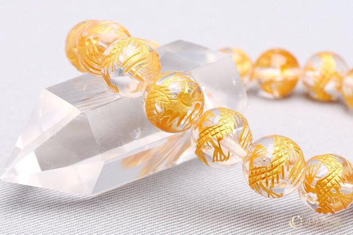 金龍水晶 ブレスレット 10mm