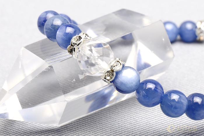 カイヤナイト ブレスレット 水晶カット2ポイント