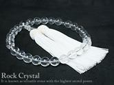 水晶天然石数珠(念珠) 12mm 男性用