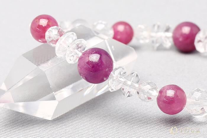 ルビー ブレスレット 水晶ミックス