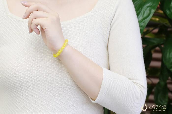 黄メノウブレスレット 6mm
