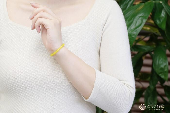 黄メノウ ブレスレット 4mm